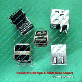 USB type A double socket female connector